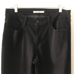 Levi's Mid Rise Skinny 10 Black Stretch Jeans